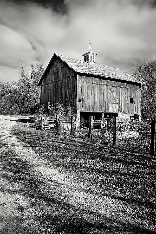 Wilsons Old Rock Barn Bw No 1 Photograph