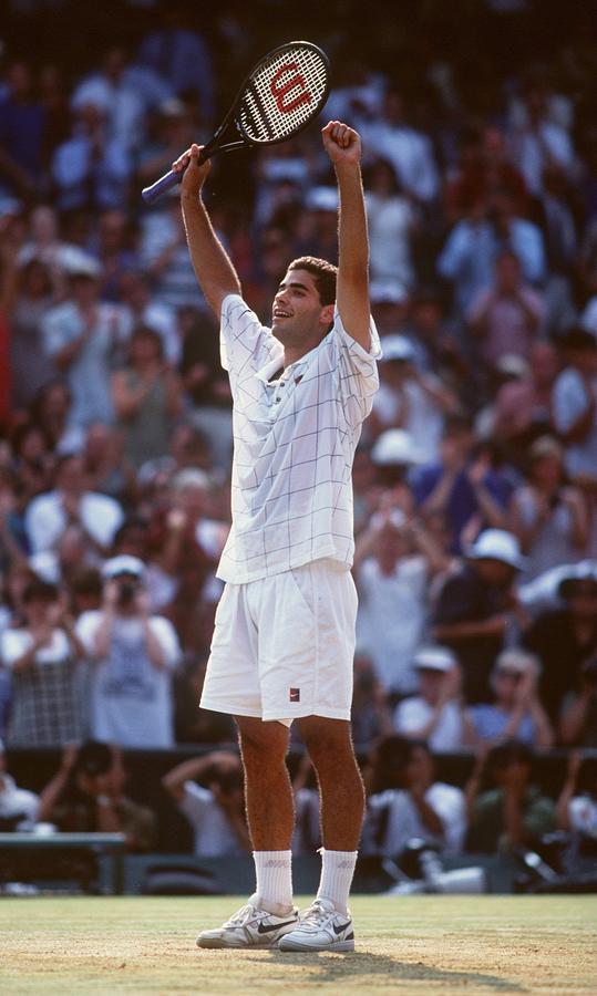 Wimbledon Sampras Photograph by Clive Brunskill