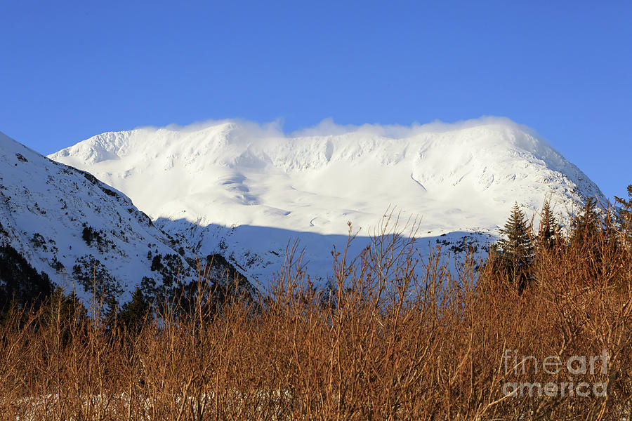Wind Photograph - Wind Blows Over The Kenai Mountains Alaska by Louise Heusinkveld