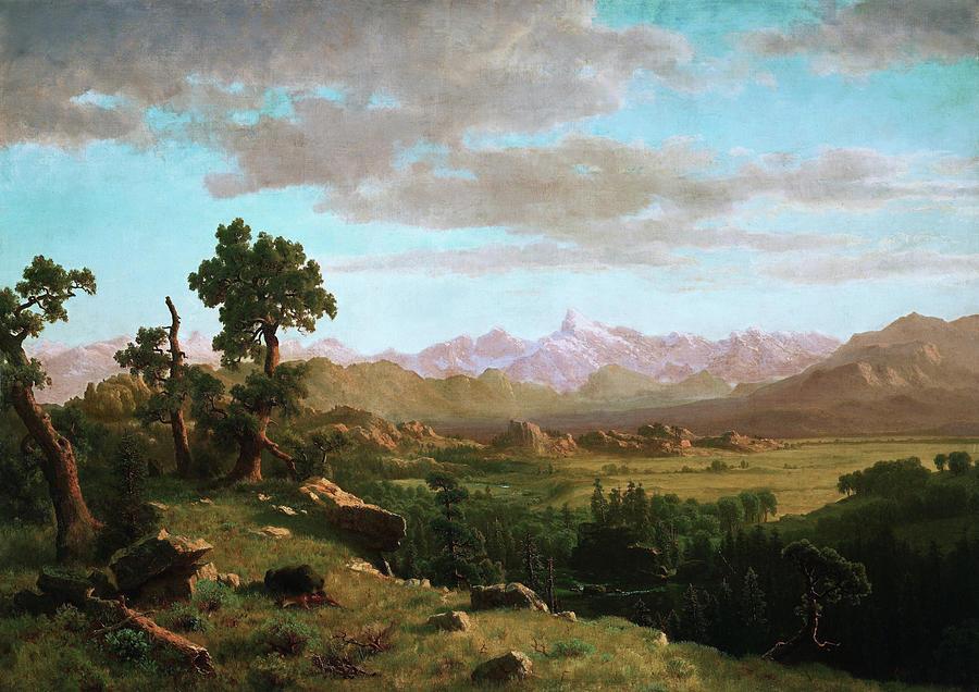 Albert Bierstadt Painting - Wind River Country - Digital Remastered Edition by Albert Bierstadt