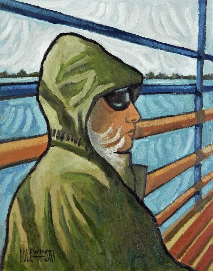 Portrait Painting - Wind by Robert Holewinski