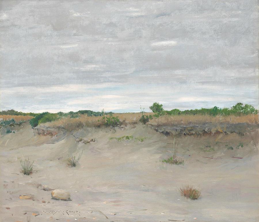 William Merritt Chase Painting - Wind-swept Sands by William Merritt Chase