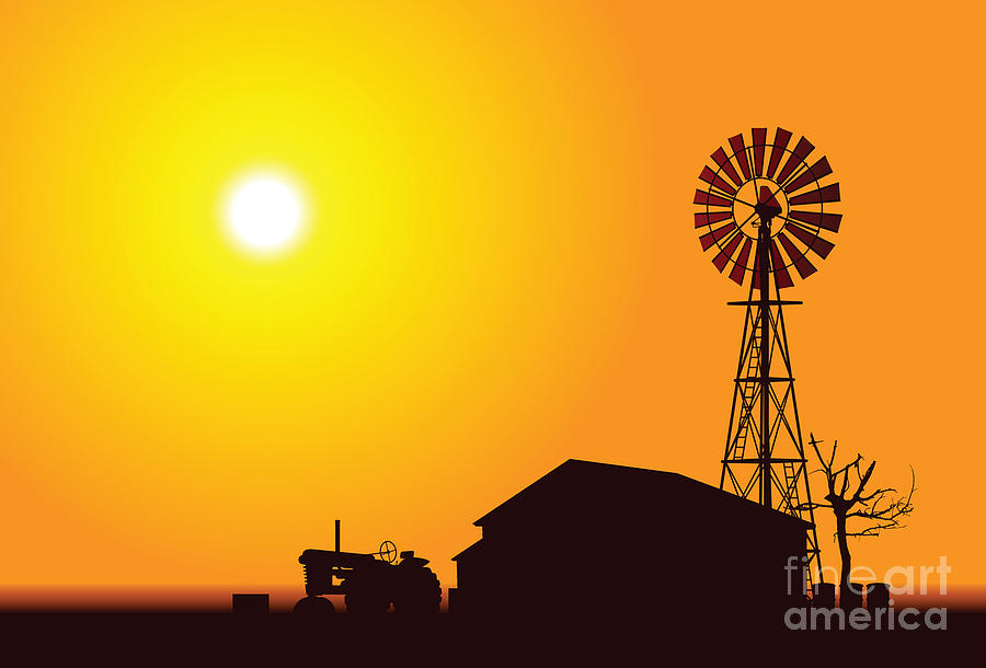 Usa Digital Art - Wind Turbine by Alexander Smulskiy