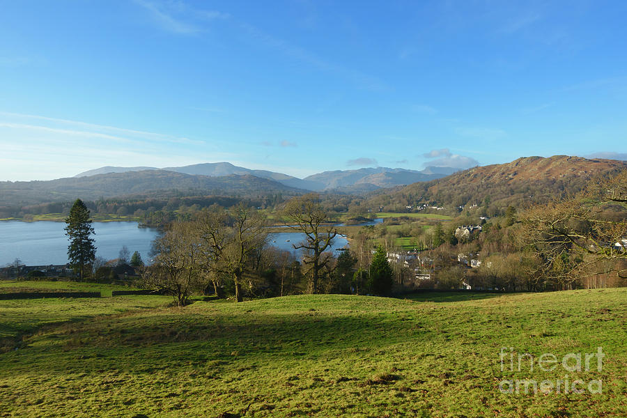 Ambleside Photograph - Windermere With Loughrigg Fell And The Langdales From Ambleside by Louise Heusinkveld