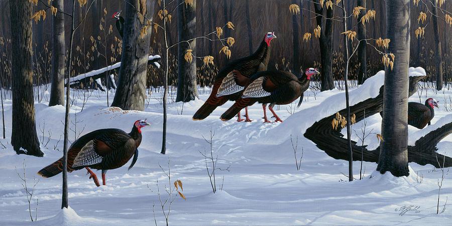 Animals Painting - Windfall Crossing by Wilhelm Goebel