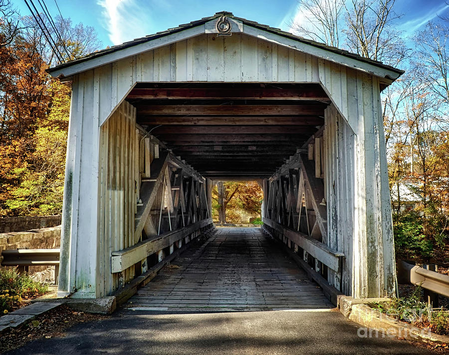 Entrance to Green Sergeant's Covered Bridge by Mark Miller