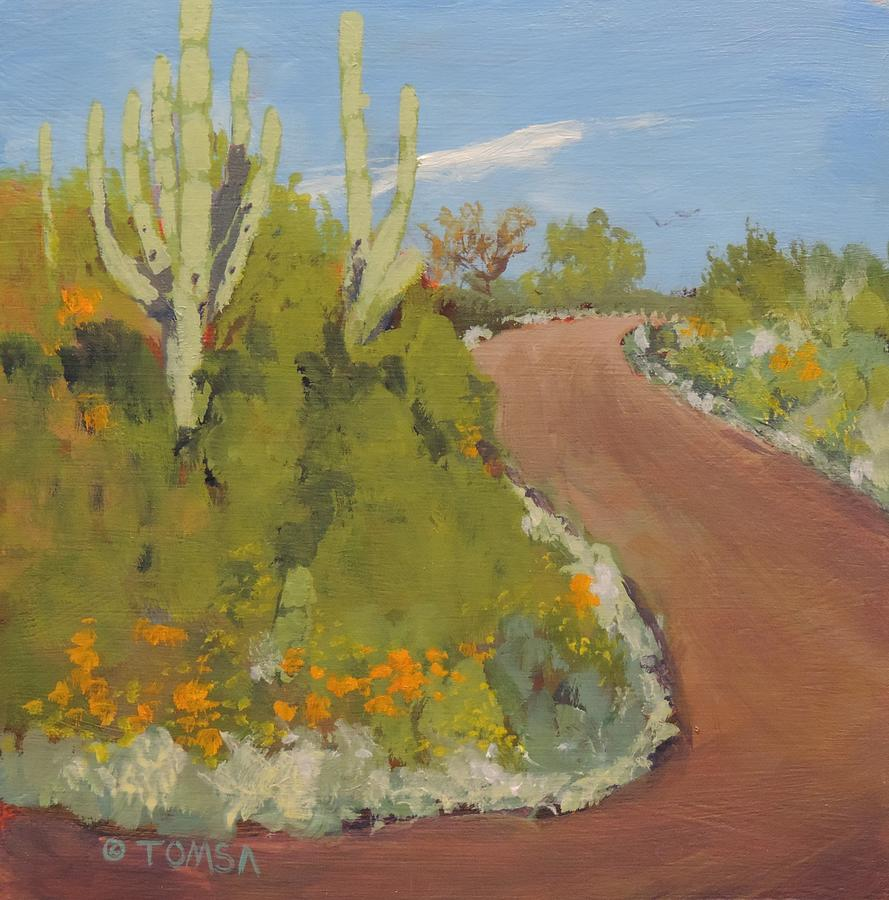 Winding Desert Road by Bill Tomsa