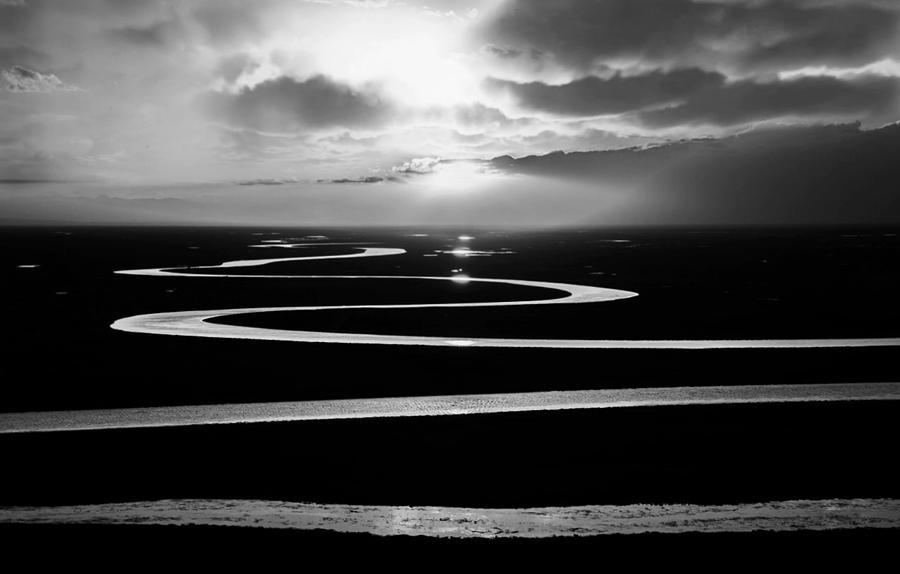 Winding River by KaFra Art