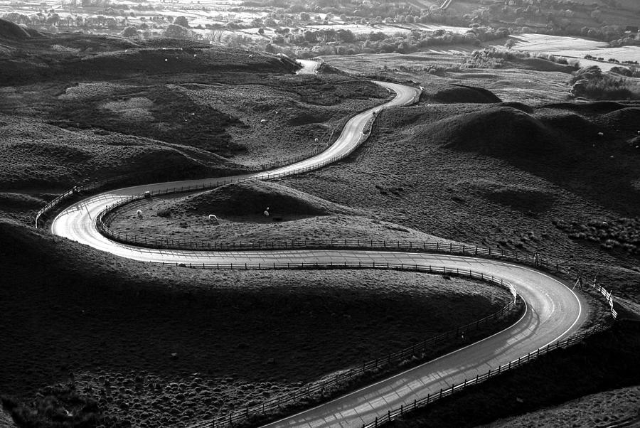 Curve Photograph - Winding Road by Photos By R A Kearton