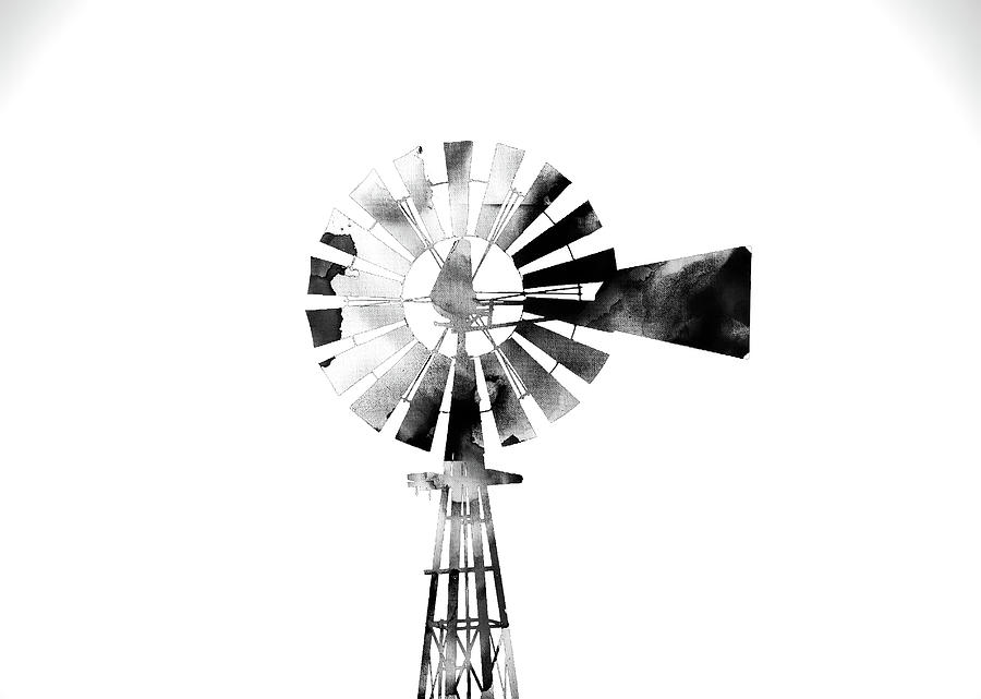 Windmill 2 #blackandwhite by Andrea Anderegg