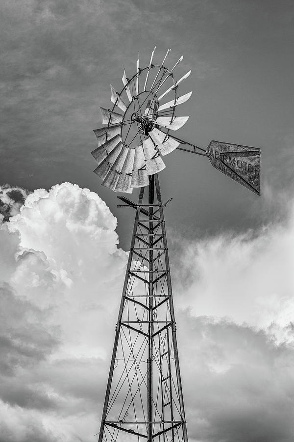 Windmill as Storm Gathers by Randy Bayne