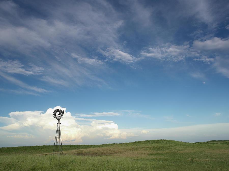 Windmill In Field Photograph by John Kelly