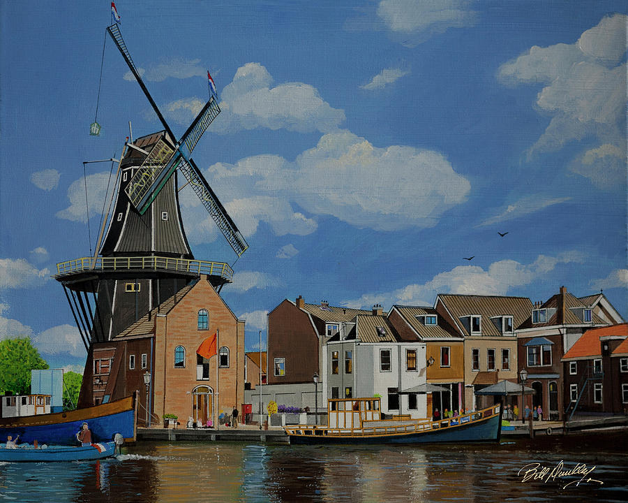 Windmill in Haarlem by Bill Dunkley