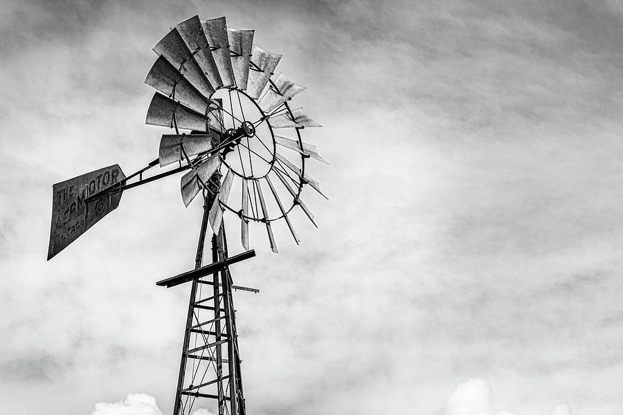 Windmill in Monochrome by Randy Bayne