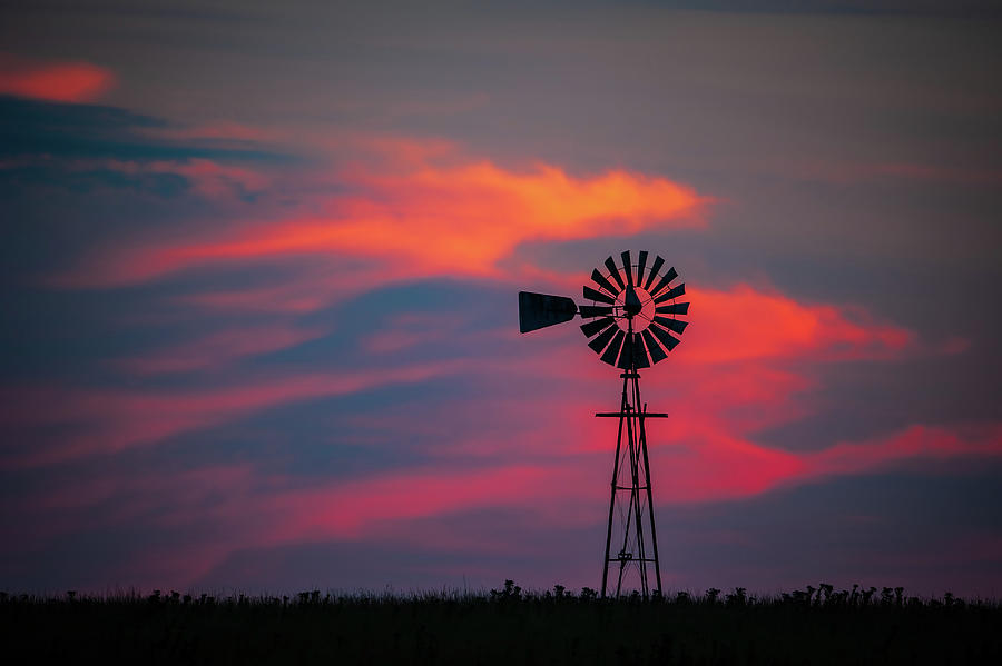 Windmill Sunset by Jeff Phillippi