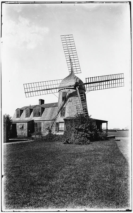 Windmill Photograph by The New York Historical Society