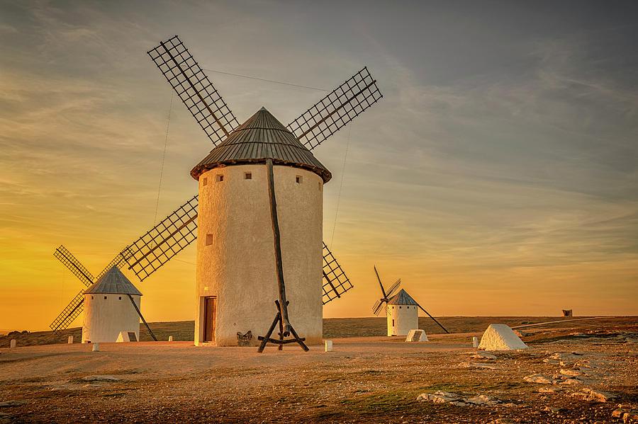 Windmills at Campo de Criptana La Mancha Spain_GRK2370_02062019 by Greg Kluempers