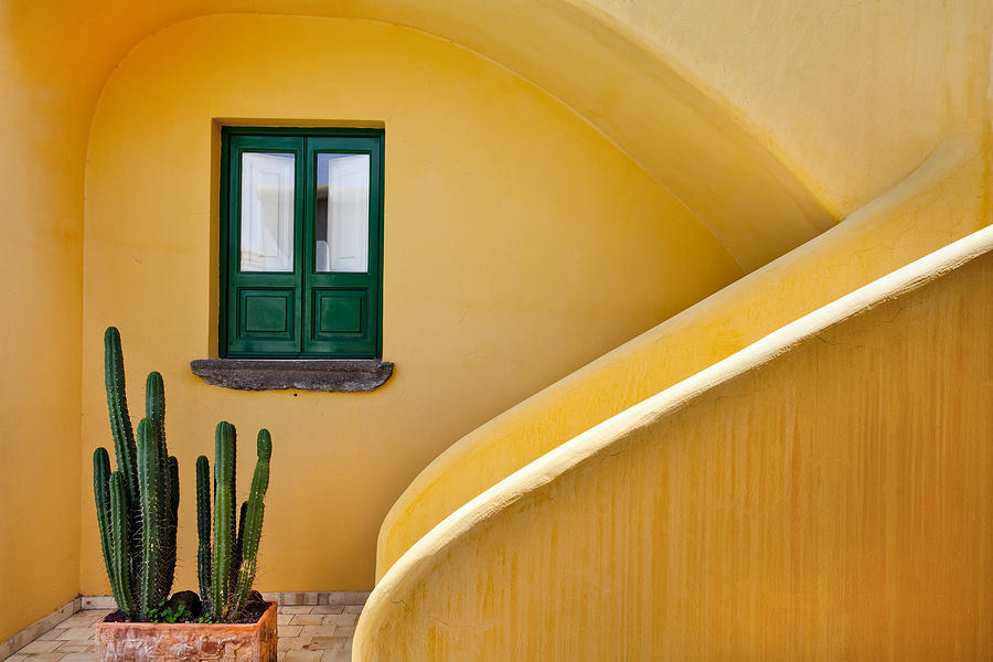 Window And Yellow Wall, Hotel Signum Photograph by Sabine Lubenow / Look-foto