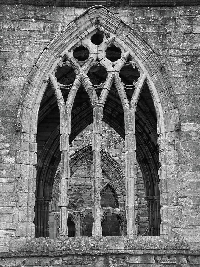 Window At Elgin Cathedral by Dave Mills