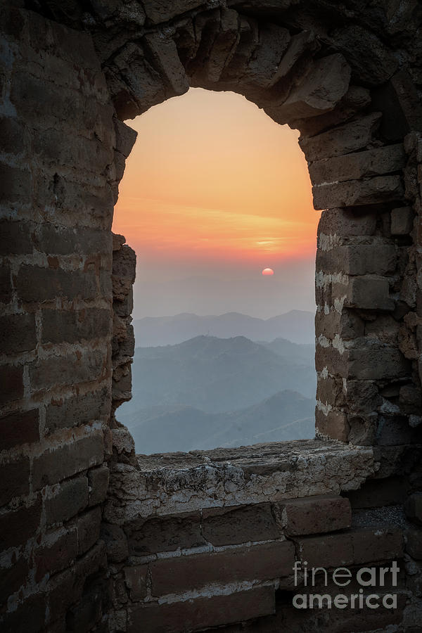 Asia Photograph - Window In The Wall by Inge Johnsson