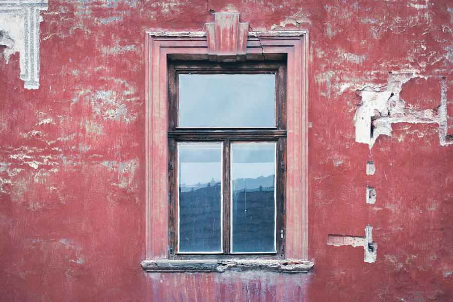 Window, Plaster, Unrenovated Red House Photograph by By Dornveek Markkstyrn