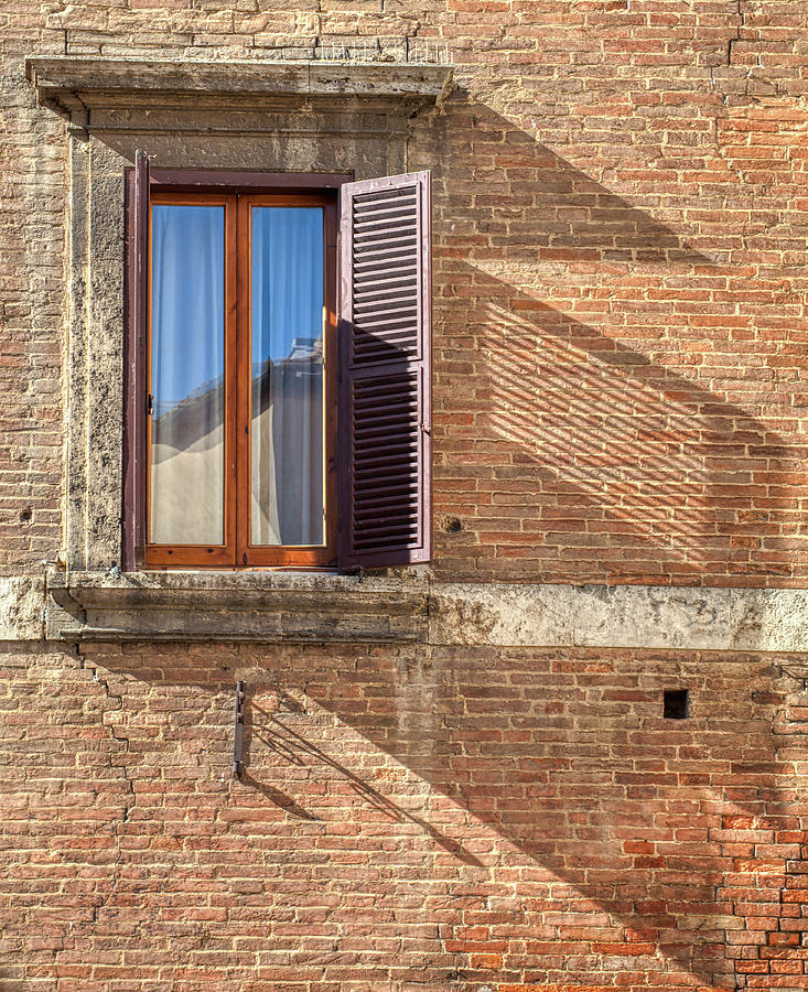 Window Shutter Shadow of Tuscany by David Letts