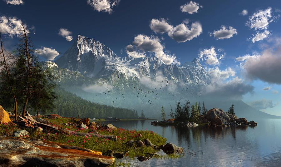 Window Through The Mist by Dieter Carlton