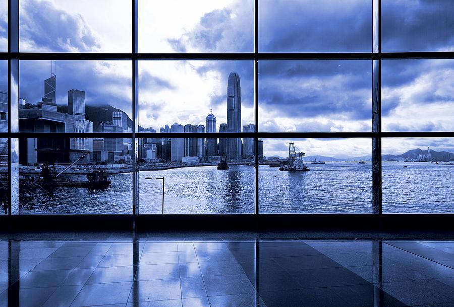 Window View Of Hong Kong City Photograph by Ngkaki