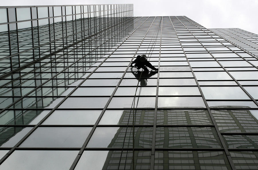 Window Washer Photograph by Filo