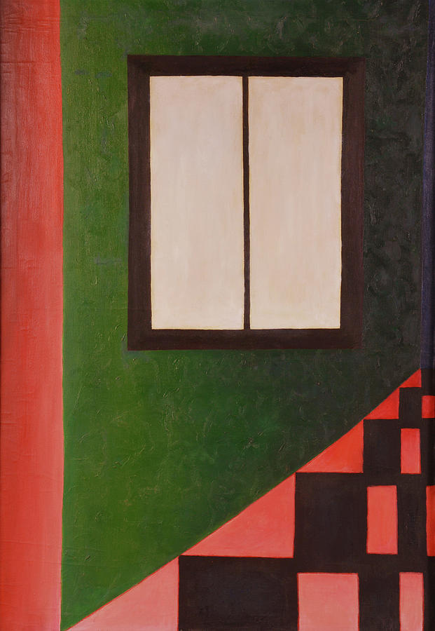 Geometric Abstracts Painting - Windowed by David Douthat