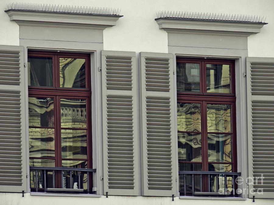 Windows In Wiesbaden Photograph