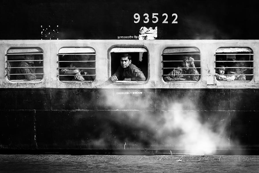 Street Photograph - Windows by Juan Luis Duran