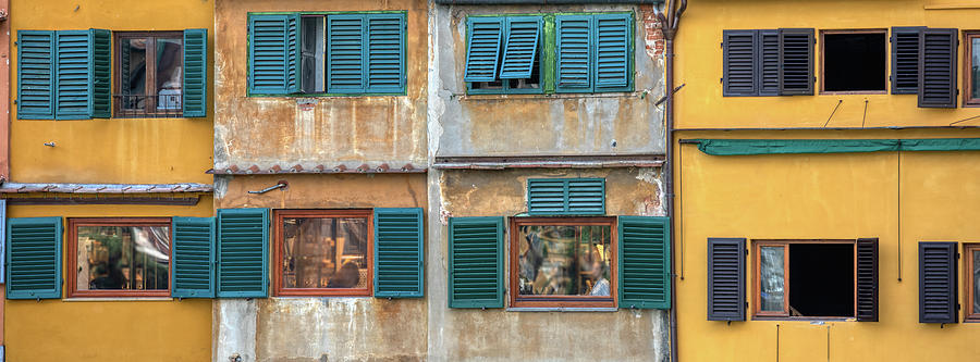 Windows of  Ponte Vecchio by David Letts