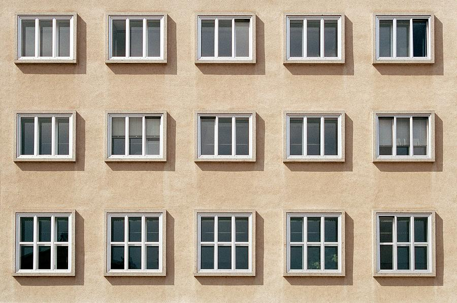Windows Of Residential Apartments Photograph by Martin Diebel