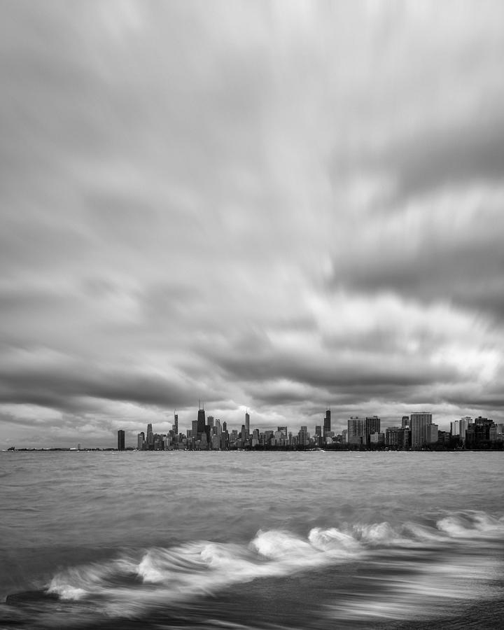 Windy City Spring Black and White by Matt Hammerstein