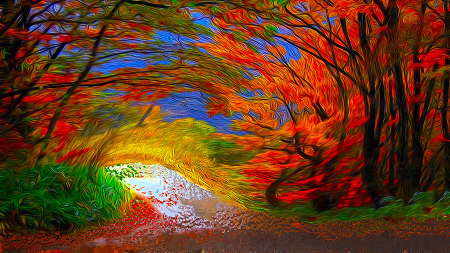 Windy Day Digital Art - Windy Day by Bruce IORIO