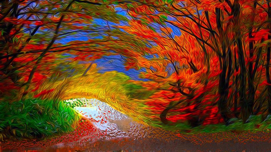 Windy Day Digital Art - Windy Day by Bruce IORIO