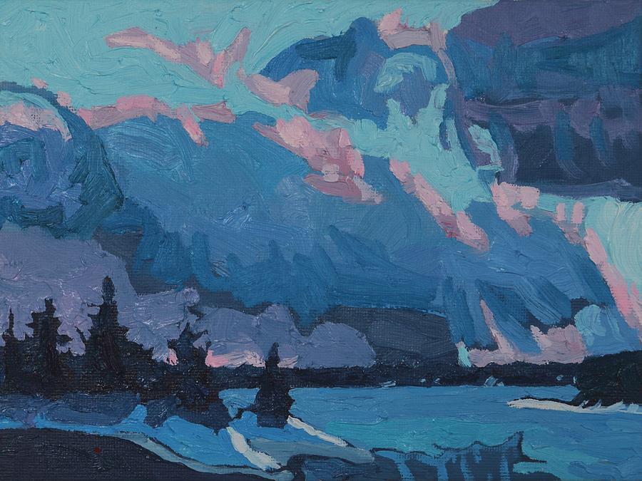Windy Singleton Snow Squalls by Phil Chadwick