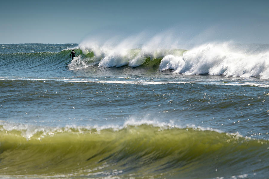 Windy Waves Surfer by John Randazzo