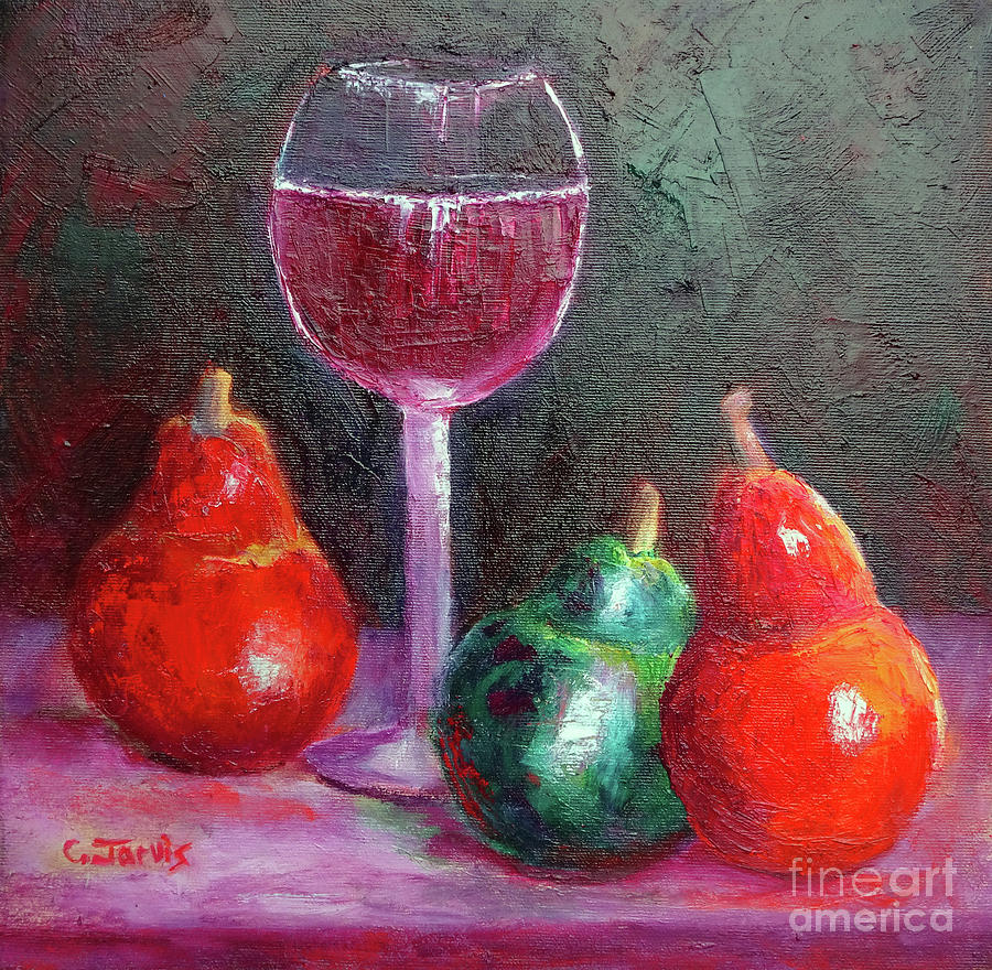 Wine and Pears by Carolyn Jarvis