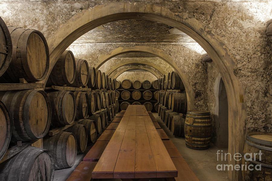 Wine Barrels In Wine Cellar Photograph by Westend61