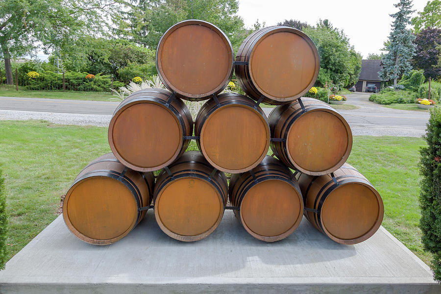 Wine Barrels by Jack R Perry