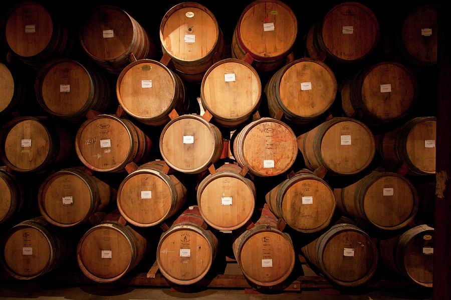 Wine Barrels Photograph by Ryan Mcginnis