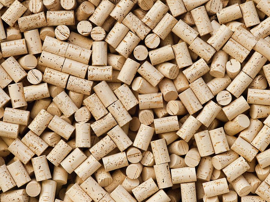 Wine Bottle Cork Background Photograph by Pgiam