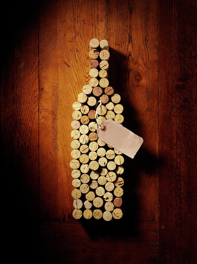 Wine Bottle In Corks Photograph by Wragg