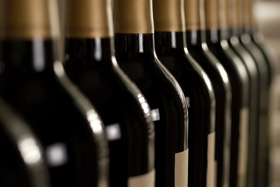 Wine Bottles Photograph by Klh49
