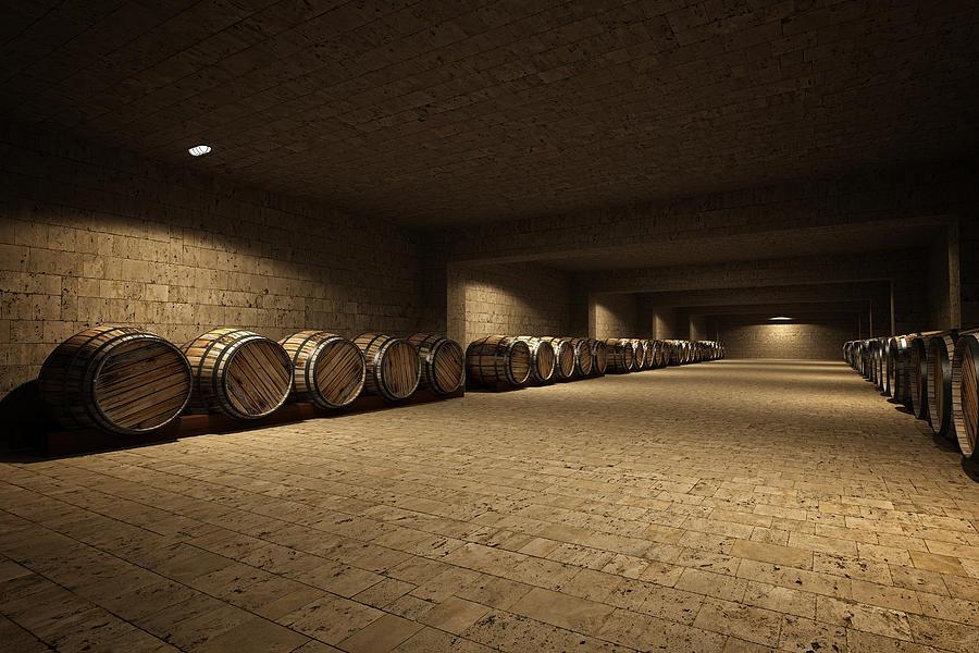 Wine Cellar Photograph by Deliormanli