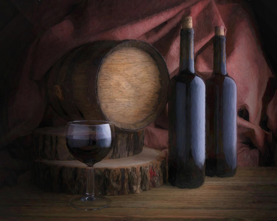 Wine Cellar Still Life by Tom Mc Nemar
