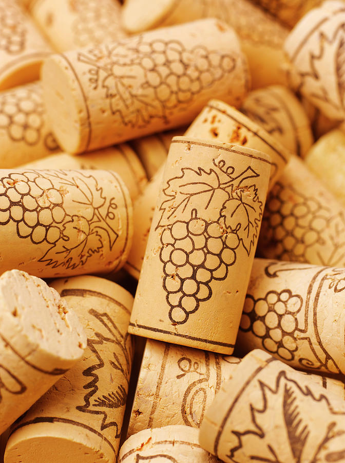 Wine Corks, Close-up, Full Frame Photograph by Peter Dazeley