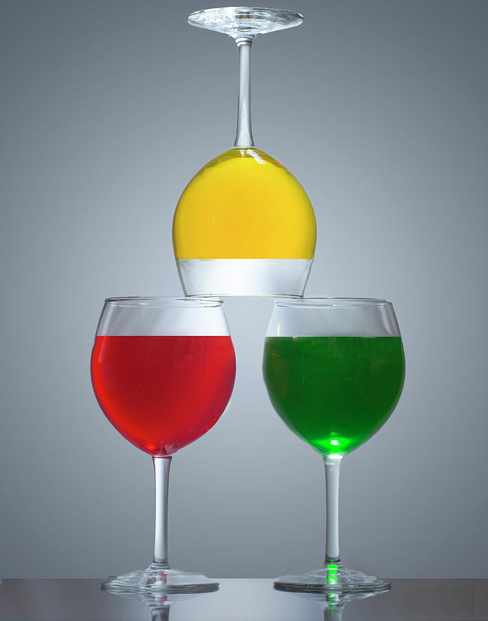 Wine Glass Acrobatics by Eleanor Bortnick